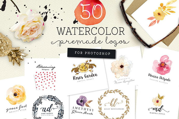 Lovely-Watercolor-Logo-Designs - 35+ Lovely Watercolor Logo Designs [year]