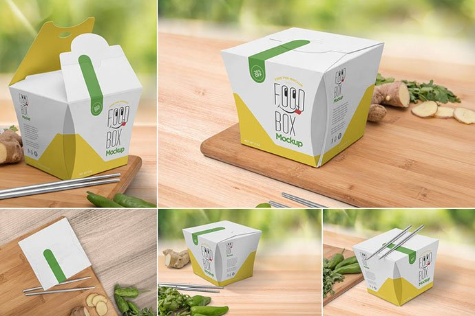 Lunch - 60+ Delicious Food Packaging PSD Mockup Design Templates [year]