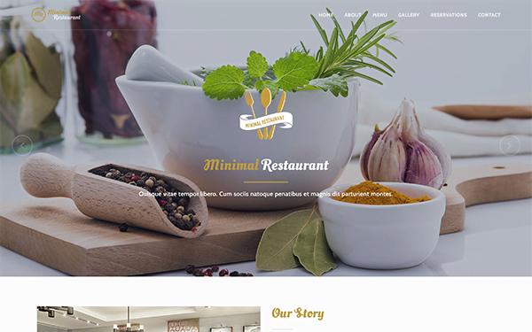 MR-Minimal-Restaurant-Template - 41+ Stunning Restaurant Website HTML5 Templates [year]