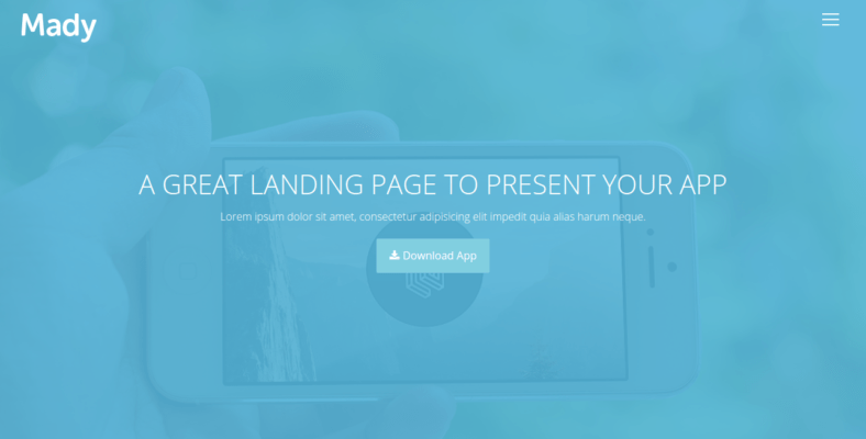 Mady - 41+ Awesome Parallax Landing Page Themes [year]