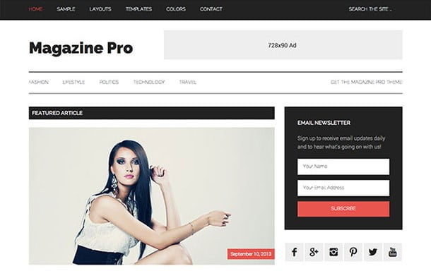 Magazine-Pro - 31+ Top WordPress Themes For Best Adsense Optimized [year]