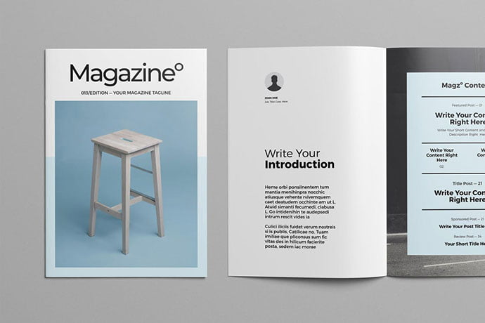Magazine-Template - 50+ Awesome Interior Magazine InDesign Templates [year]
