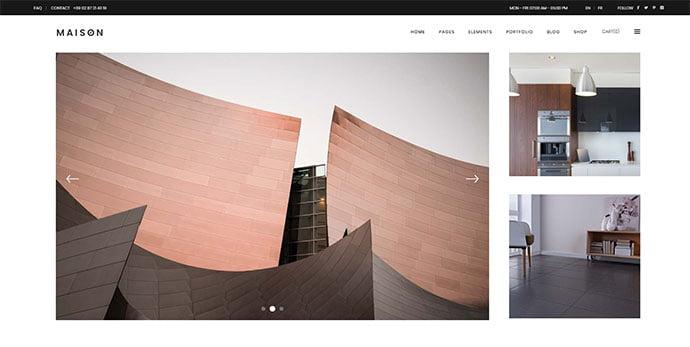 Maison - 36+ Amazing WordPress Themes For Architect Portfolio [year]