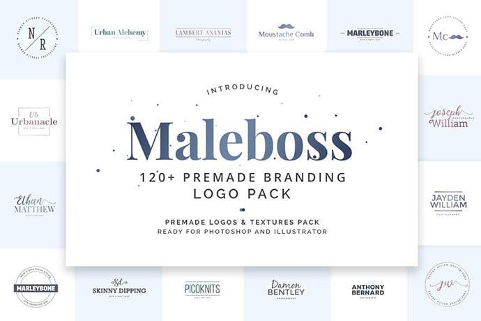 Maleboss-Premade-Branding - 31+ Awesome Watermark Photographer Logo Templates [year]