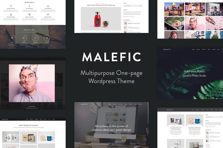 Malefic - 50+ Best Portfolio WordPress Theme Design [year]