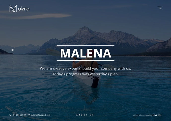 Malena - 35+ Awesome Twitter Bootstrap Portfolio Site Templates
