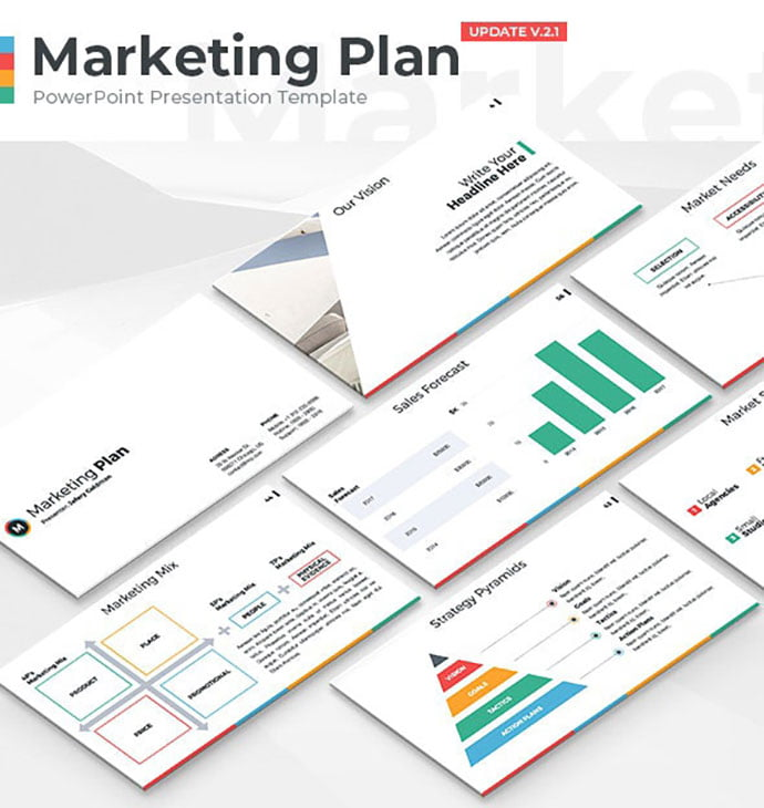 Marketing-Plan - 35+ Attractive Annual Report Powerpoint Templates [year]