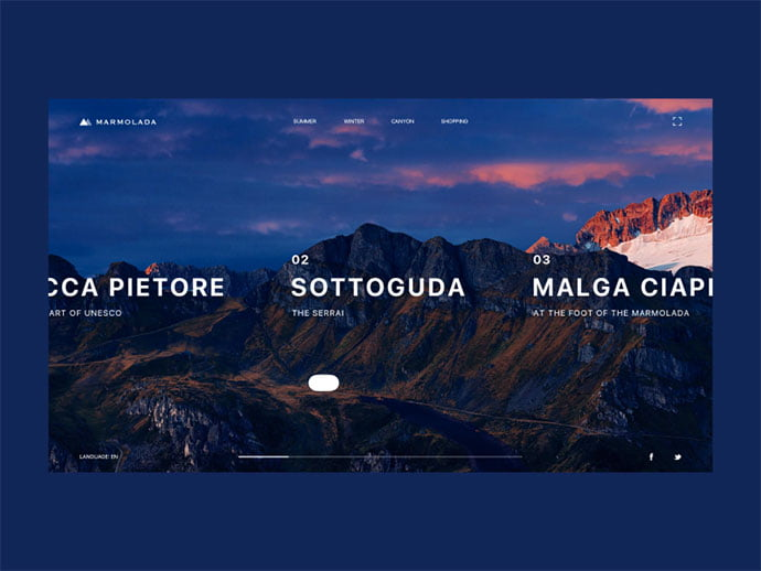 Marmolada - 46+ Free Inspiration of Travel Web UI Designs [year]