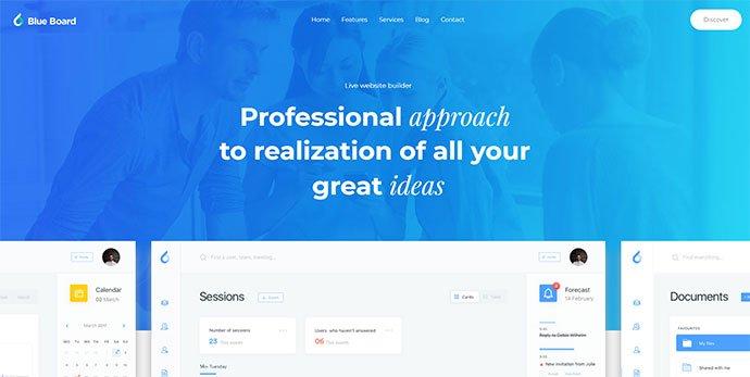 Massive-Dynamic - 30+ BEST Blue WordPress Themes [year]