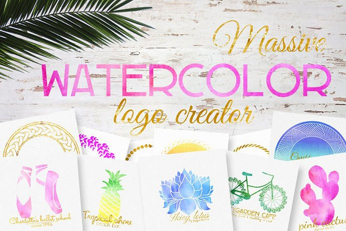 Massive - 35+ Lovely Watercolor Logo Designs [year]