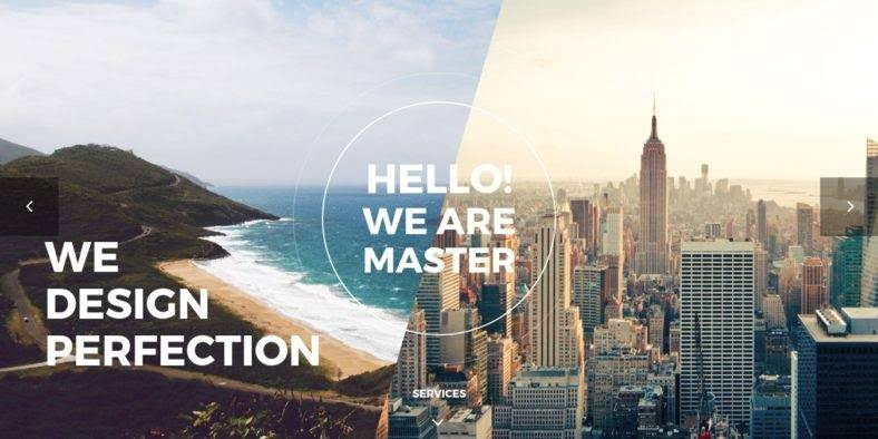 Master - 36+ Best One Page Modern and Creative HTML Templates [year]