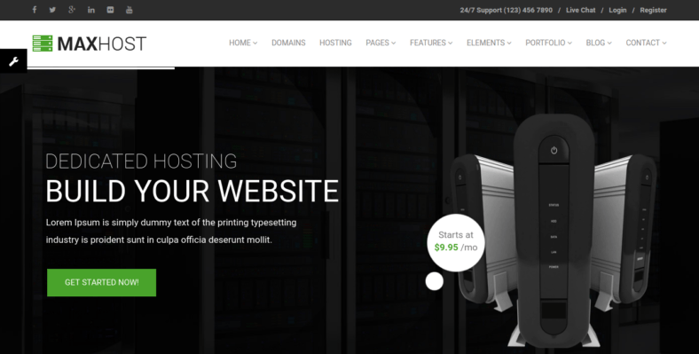 MaxHost-Professional - 41+ Awesome Responsive HTML5 Web Templates [year]