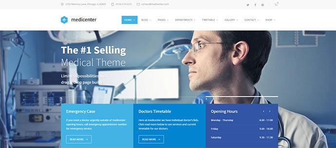 MediCenter - 30+ BEST Blue WordPress Themes [year]