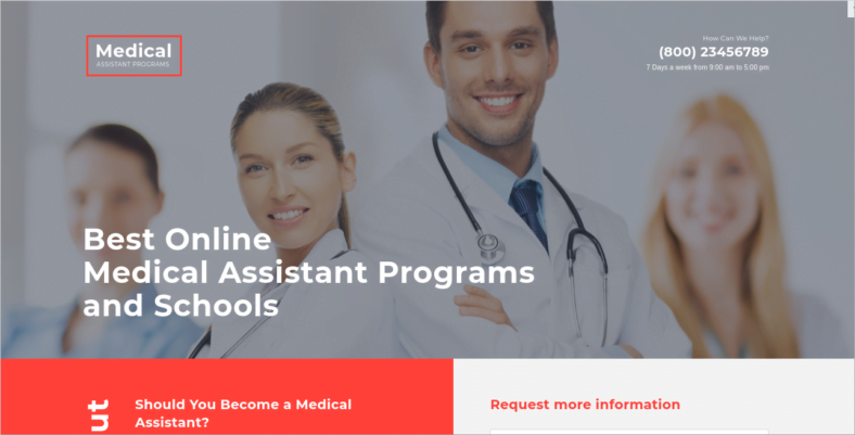 Medical-Assistance-Program - 41+ Awesome Parallax Landing Page Themes [year]