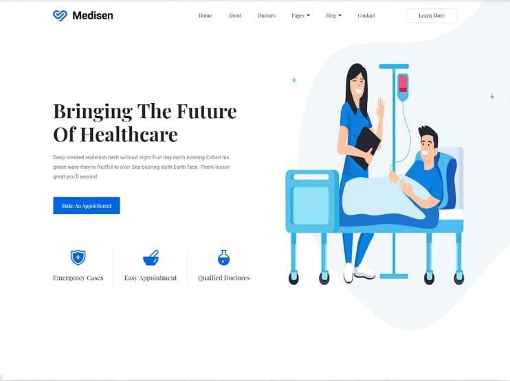 Medisen - 77+ Best Free HTML & CSS Clean Simple Website Templates [year]