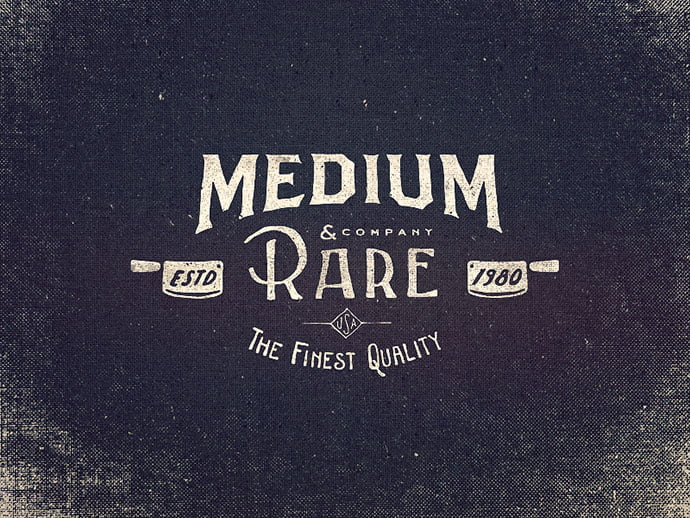 Medium-Rare-Wordmark - 36+ Amazing Free Hand Drawn Logo Designs For You [year]