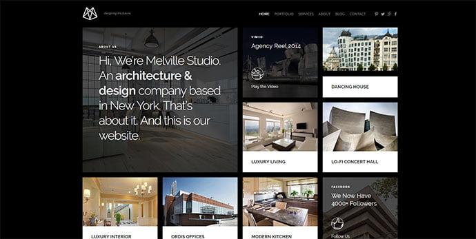 Melville - 36+ Amazing WordPress Themes For Architect Portfolio [year]