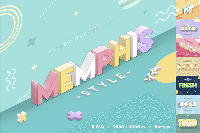 Memphis-Style - 35+ Awesome Poster Design For Photoshop Actions [year]