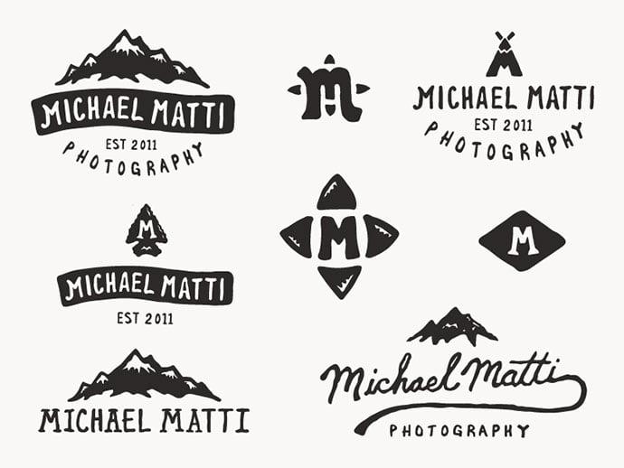 Michael-Matti-by-Andrew-Berkemeyer - 50+ Fantastic BEST FREE Typographic Logo Badge Designs