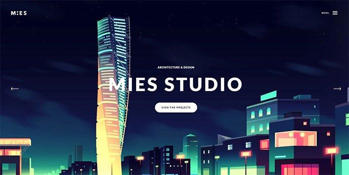 Mies - 36+ Amazing WordPress Themes For Architect Portfolio [year]