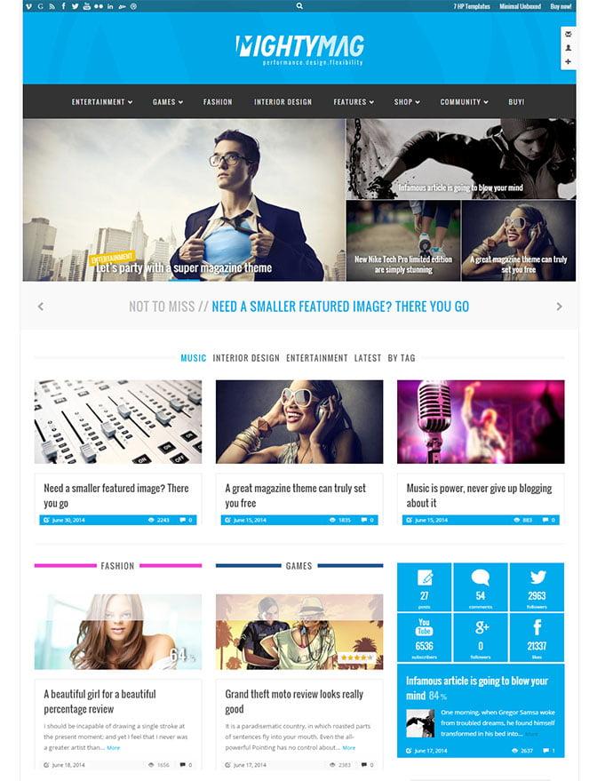 MightyMag - 45+ Magazine & Blog WordPress Themes To Make Your Website [year]