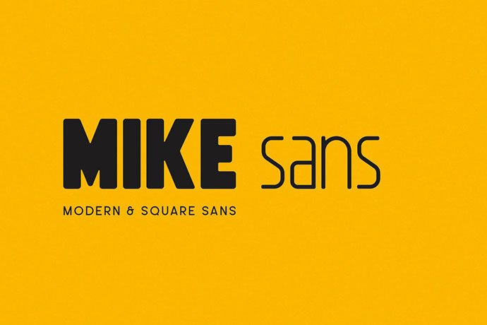 Mike-Sans - 30+ Awesome BEST Square based Geometric Fonts [year]