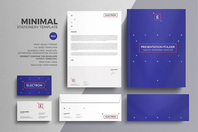 Minimal-1 - 35+ Remarkable Stationery Branding Design Templates [year]