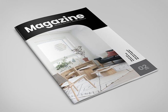 Minimal-3 - 50+ Awesome Interior Magazine InDesign Templates [year]