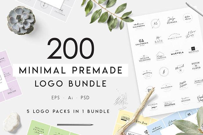Minimal-Premade - 31+ Awesome Watermark Photographer Logo Templates [year]