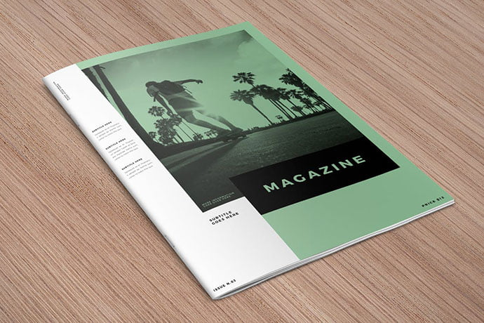 Minimal-White-Simple - 50+ Awesome Interior Magazine InDesign Templates [year]