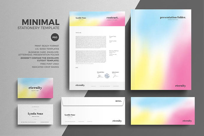 Minimal - 35+ Remarkable Stationery Branding Design Templates [year]