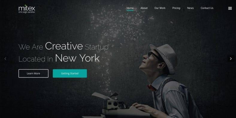 Mitex - 36+ Best One Page Modern and Creative HTML Templates [year]