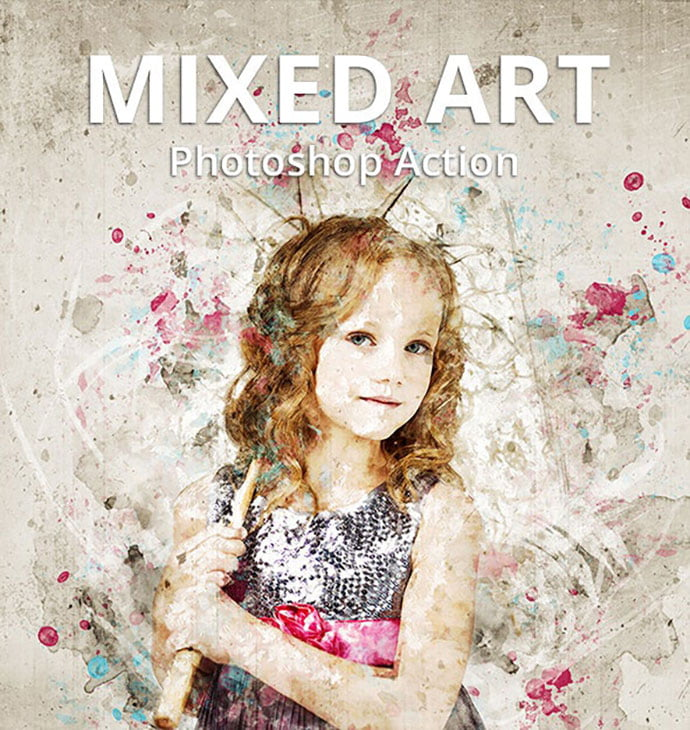 Mixed-Art - 30+ Awesome Splatter Painting Effect Photoshop Actions [year]