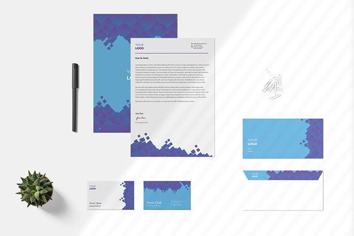 Modern-Geometri-Pattern - 35+ Remarkable Stationery Branding Design Templates [year]