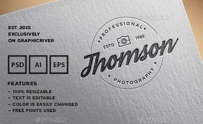 Modern - 31+ Awesome Watermark Photographer Logo Templates [year]