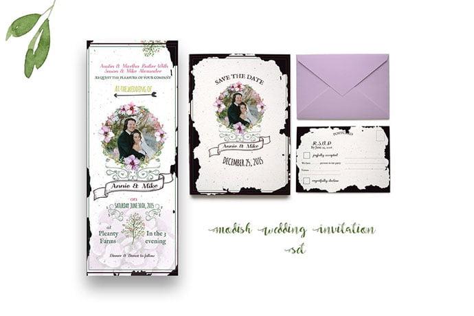 Modish-Wedding-Invitation - 35+ Remarkable Stationery Branding Design Templates [year]