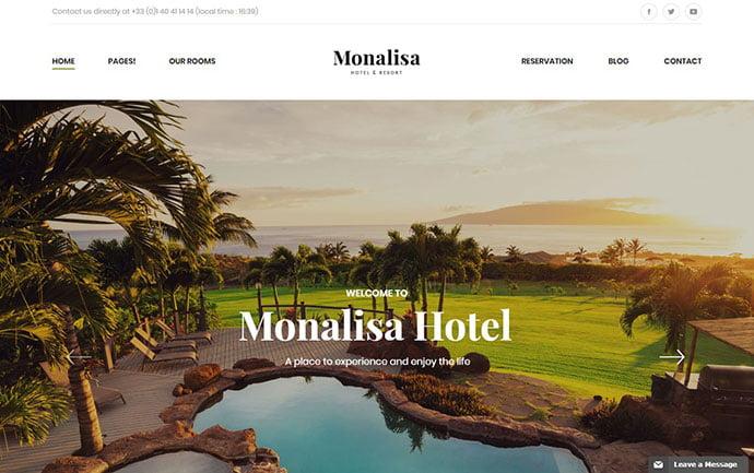 Monalisa-Hotel - 30+ Amazing Resorts & Hotels WordPress Themes [year]