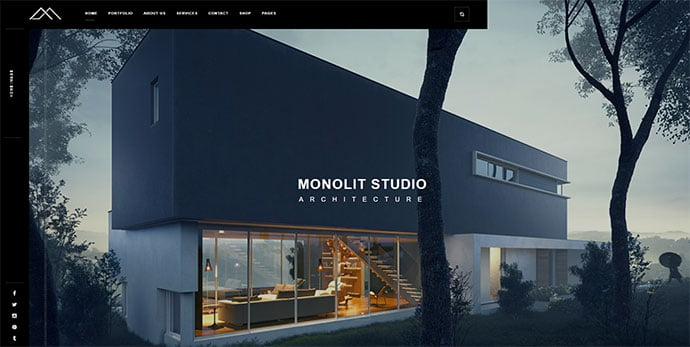 Monolit - 36+ Amazing WordPress Themes For Architect Portfolio [year]