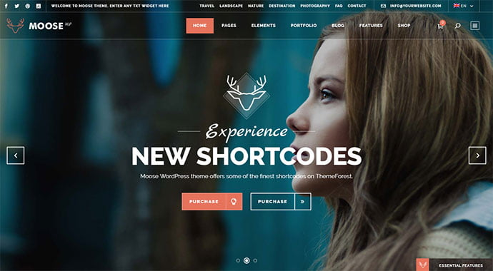 Moose - 30+ Fullscreen Slider Portfolio WordPress Themes [year]