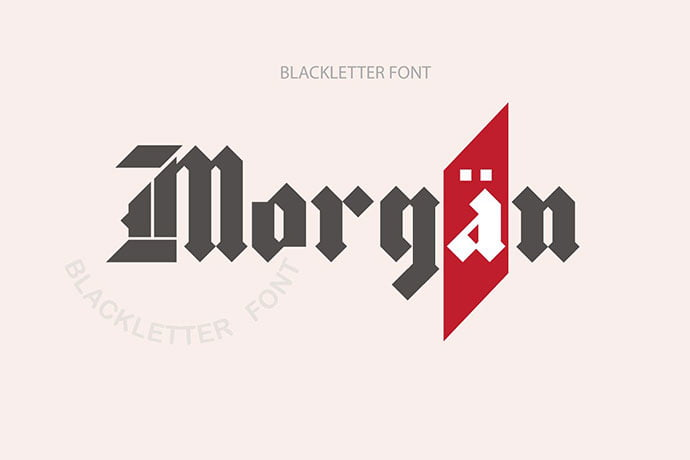 Morgan - 30+ Marvelous Gothic Blackletter Fonts [year]