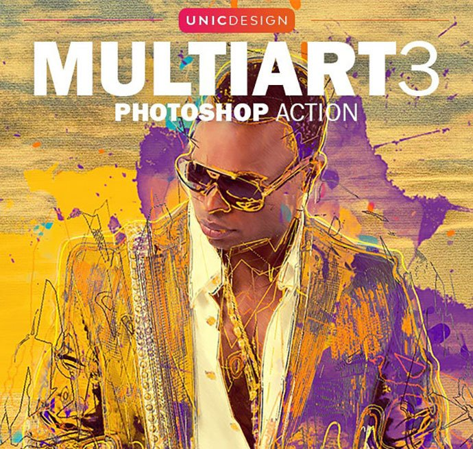 MultiArt-3 - 30+ Awesome Splatter Painting Effect Photoshop Actions [year]