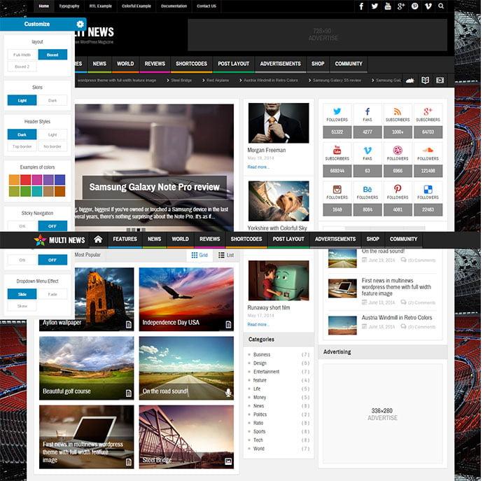 Multinews - 45+ Magazine & Blog WordPress Themes To Make Your Website [year]