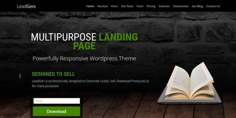 Multipurpose-1 - 37+ Amazing Best WordPress Landing Page Themes [year]