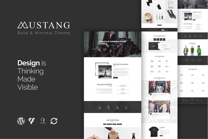 Mustang - 50+ Best Portfolio WordPress Theme Design [year]