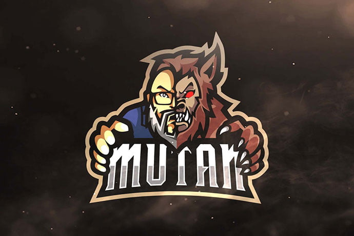 Mutan-Sport-and-Esports-Logo-Template - 60+ Personal & Team Branding AI & EPS eSports Logo Templates [year]