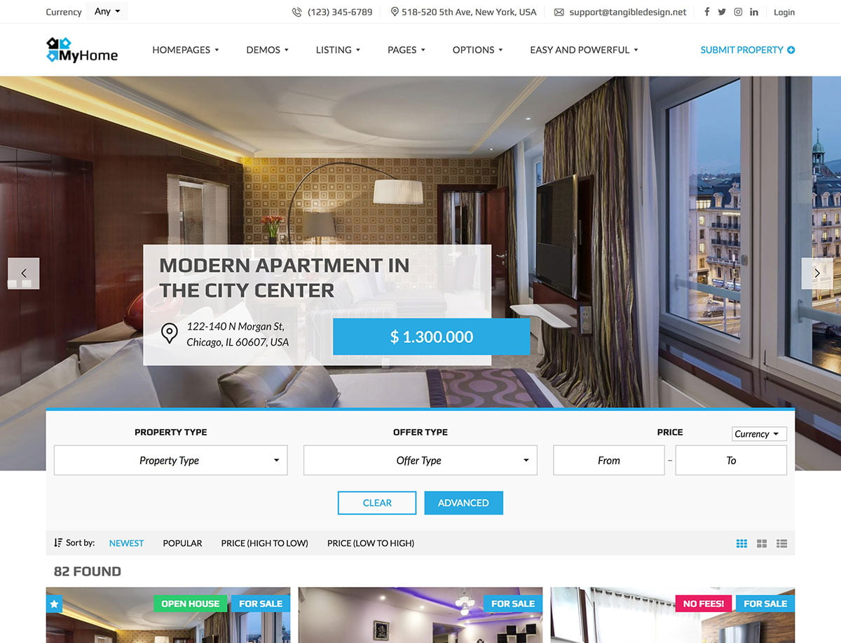 MyHome - 36+ Best WordPress Real Estate Themes [year]