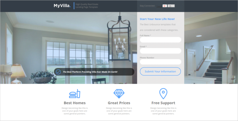 MyVilla - 41+ Awesome Parallax Landing Page Themes [year]
