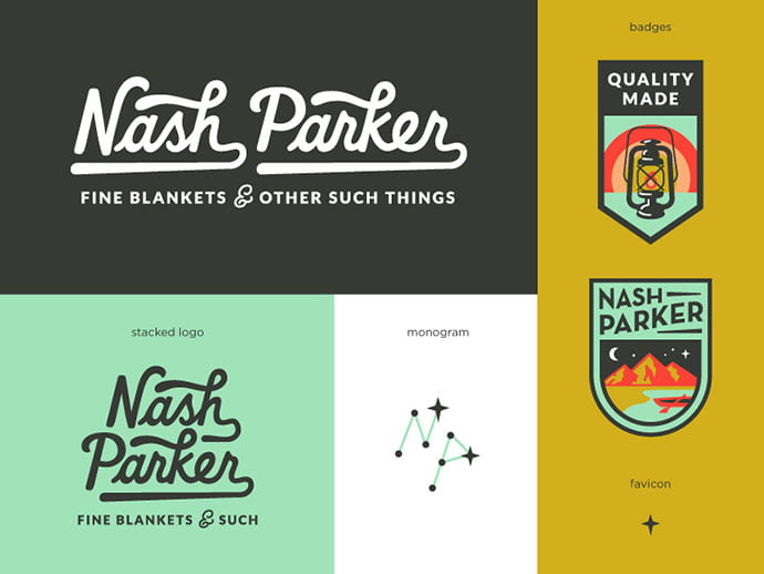 Nash-Parker-Blankets-by-Amy-Hood - 50+ Fantastic BEST FREE Typographic Logo Badge Designs