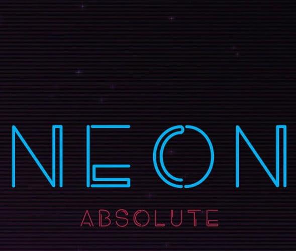 Neon-Absolute - 50+ Fantastic BEST FREE Typographic Logo Badge Designs