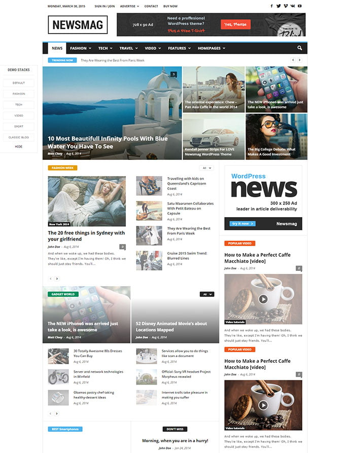 Newsmag - 45+ Magazine & Blog WordPress Themes To Make Your Website [year]